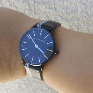 New Armani Exchange women's leather watch